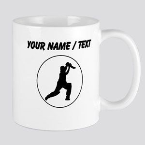 Custom Cricket Player Circle Mugs
