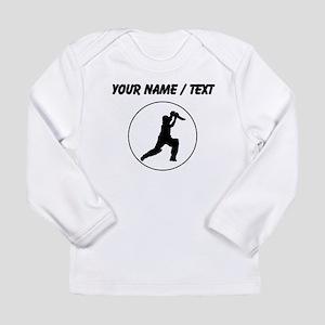 Custom Cricket Player Circle Long Sleeve T-Shirt