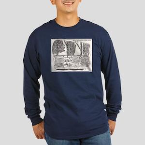 New Mexican Adobe Wall Long Sleeve Dark T-Shirt