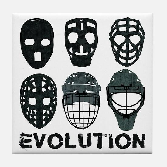 Hockey Goalie Mask Evolution Tile Coaster