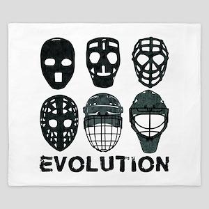 Hockey Goalie Mask Evolution King Duvet