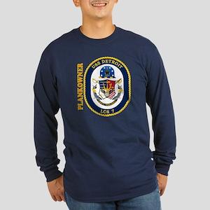 USS Detroit Plankowner Long Sleeve Dark T-Shirt