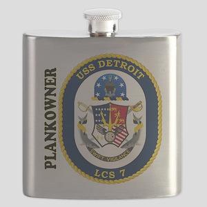 USS Detroit Plankowner Flask