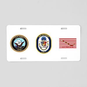 USS Detroit LCS-7 Aluminum License Plate