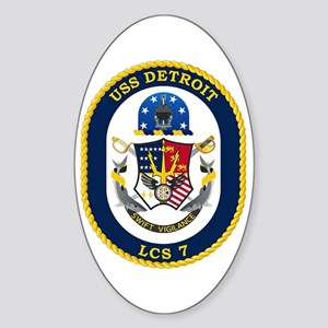 USS Detroit LCS-7 Sticker (Oval)
