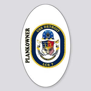 USS Detroit Plankowner Sticker (Oval)
