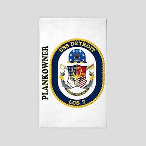 USS Detroit Plankowner 3'x5' Area Rug