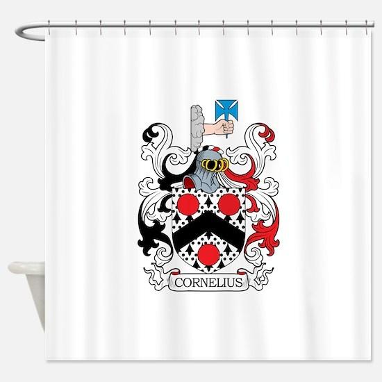 Cornelius Family Crest Shower Curtain