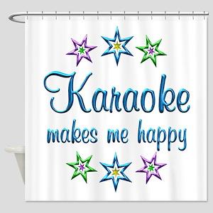 Karaoke Happy Shower Curtain