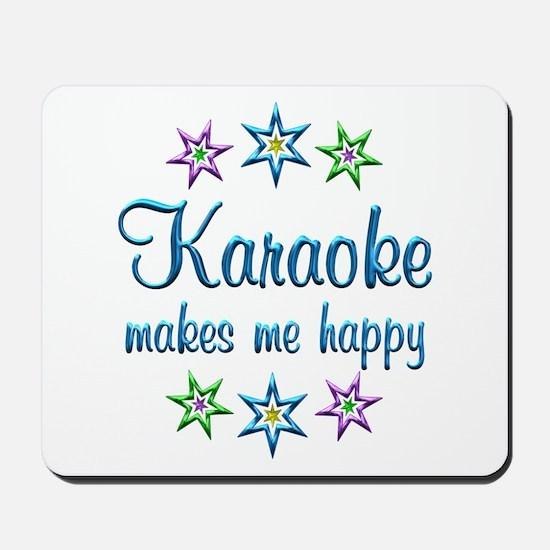 Karaoke Happy Mousepad