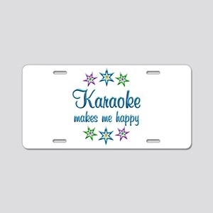 Karaoke Happy Aluminum License Plate