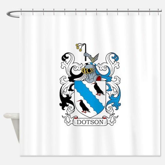 Dotson Family Crest Shower Curtain