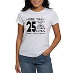 ARC 25 Years of Saving Lives black logo T-Shirt