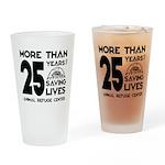 ARC 25 Years of Saving Lives black logo Drinking G