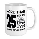ARC 25 Years of Saving Lives black logo Mugs