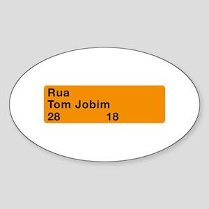 Rua Tom Jobim, Rio de Janeiro (BR) Oval Sticker