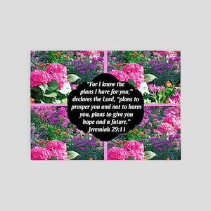 JEREMIAH 29:11 5'x7'Area Rug