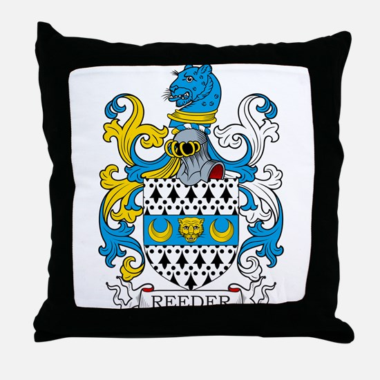 Reeder Family Crest Throw Pillow