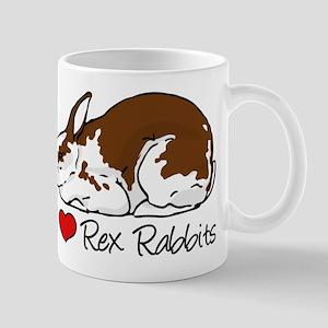 I Heart Rex Rabbits Mugs