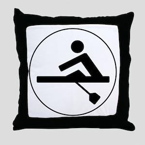 Rower Circle Throw Pillow