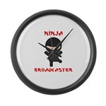 Ninja Broadcaster Large Wall Clock