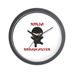 Ninja Broadcaster Wall Clock