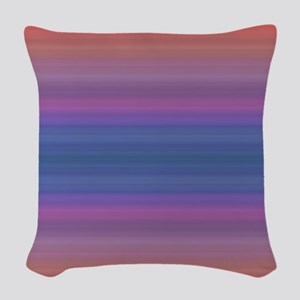 Colorful Sunset Pattern Woven Throw Pillow