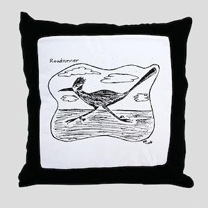 Roadrunner Illustration Throw Pillow