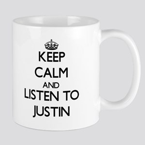 Keep Calm and Listen to Justin Mugs