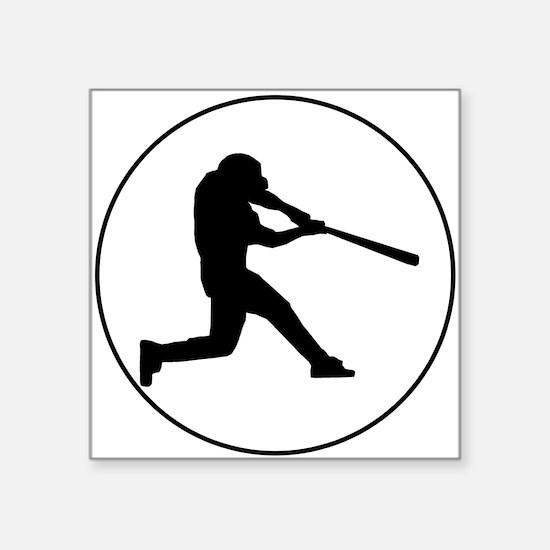 Baseball Batter Circle Sticker