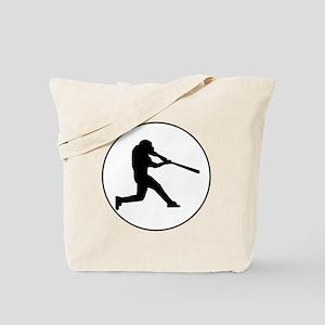 Baseball Batter Circle Tote Bag