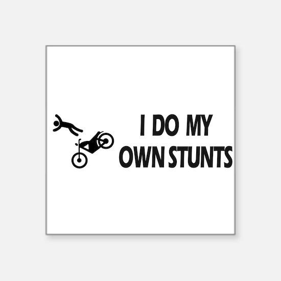 "Cute Own stunts bike Square Sticker 3"" x 3"""