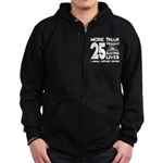 ARC 25 Years of Saving Lives white logo Zip Hoodie