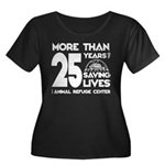 ARC 25 Years of Saving Lives white logo Plus Size