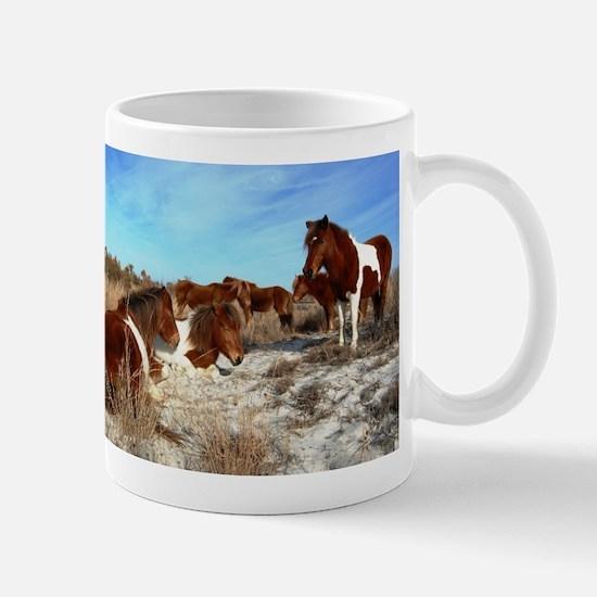 One Sunny Day, Wild horses, Assateague Island Mugs