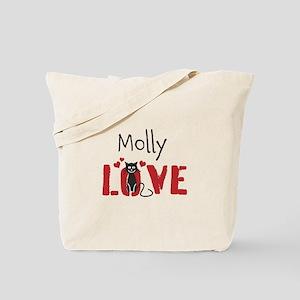 Custom Kitty Optional Text Tote Bag