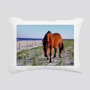 Mystic Beauty, Wild Horse Rectangular Canvas Pillo