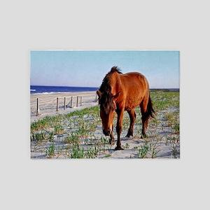 Mystic Beauty, Wild Horse 5'x7'Area Rug