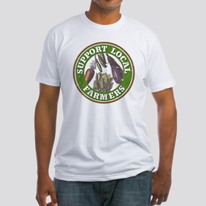Support Local Farmers Fitted T-Shirt
