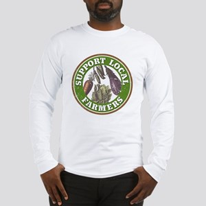 Support Local Farmers Long Sleeve T-Shirt