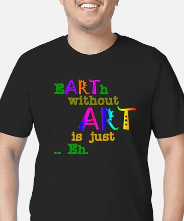 EarthWithoutArt Men's Fitted T-Shirt (dark)