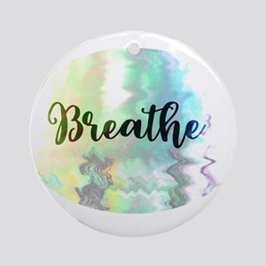 Breathe Round Ornament