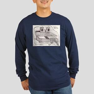 Adobe Church Illustration Long Sleeve Dark T-Shirt