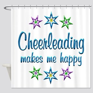 Cheerleading Happy Shower Curtain