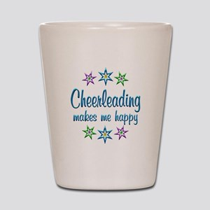 Cheerleading Happy Shot Glass