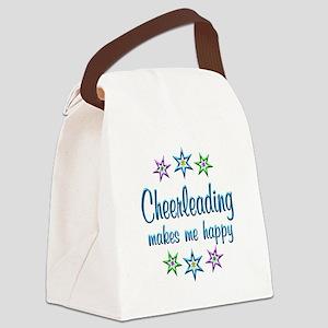 Cheerleading Happy Canvas Lunch Bag