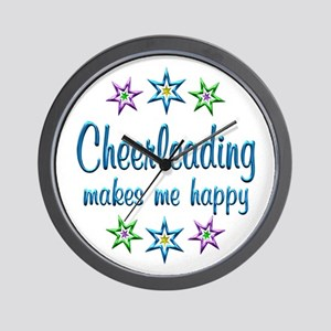 Cheerleading Happy Wall Clock