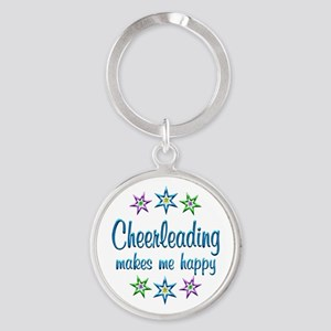 Cheerleading Happy Round Keychain