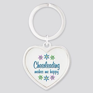 Cheerleading Happy Heart Keychain