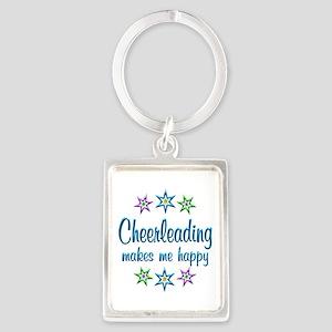 Cheerleading Happy Portrait Keychain